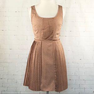 LC Lauren Conrad Blush Polka Dot Pleated Dress 10